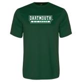 Performance Dark Green Tee-Dartmouth Big Green