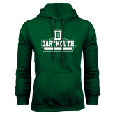 Dark Green Fleece Hood-D Dartmouth Stacked