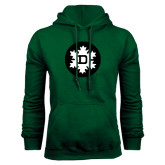 Dark Green Fleece Hood-Dartmouth Ski