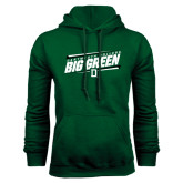 Dark Green Fleece Hood-Slanted Dartmouth Big Green