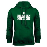 Dark Green Fleece Hood-Dartmouth Big Green Stacked Stripes