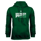 Dark Green Fleece Hood-Dartmouth Pride