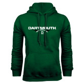 Dark Green Fleece Hood-Dartmouth Football Flat
