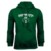 Dark Green Fleece Hood-Dartmouth College Basketball Arched w/ Ball