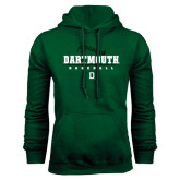 Dark Green Fleece Hood-Dartmouth Baseball Stacked