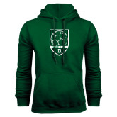 Dark Green Fleece Hood-Dartmouth Soccer Shield