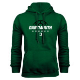Dark Green Fleece Hood-Dartmouth Soccer Stacked