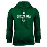 Dark Green Fleece Hood-Dartmouth Softball Stencil