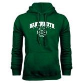 Dark Green Fleece Hood-Dartmouth Volleyball Abstract Ball