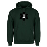 Dark Green Fleece Hood-D Snowflake