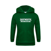 Youth Dark Green Fleece Hood-Dartmouth Big Green