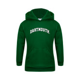 Youth Dark Green Fleece Hood-Arched Dartmouth
