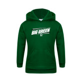 Youth Dark Green Fleece Hood-Slanted Dartmouth Big Green