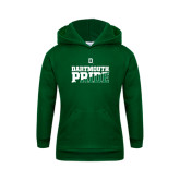 Youth Dark Green Fleece Hood-Dartmouth Pride