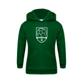 Youth Dark Green Fleece Hood-Dartmouth Soccer Shield