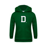 Youth Dark Green Fleece Hood-Dartmouth D