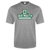 Performance Grey Heather Contender Tee-D Dartmouth Stacked
