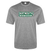 Performance Grey Heather Contender Tee-Dartmouth Big Green
