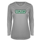 Ladies Syntrel Performance Platinum Longsleeve Shirt-Dartmouth Big Green