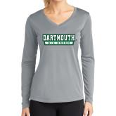 Ladies Syntrel Performance Platinum Longsleeve Shirt-Dartmouth Big Green