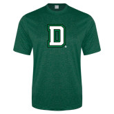 Performance Dark Green Heather Contender Tee-Dartmouth D