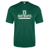 Performance Dark Green Heather Contender Tee-D Dartmouth Stacked