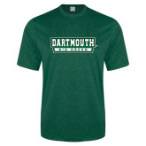 Performance Dark Green Heather Contender Tee-Dartmouth Big Green