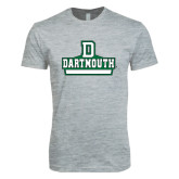 Next Level SoftStyle Heather Grey T Shirt-D Dartmouth Stacked