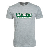 Next Level SoftStyle Heather Grey T Shirt-Dartmouth Big Green