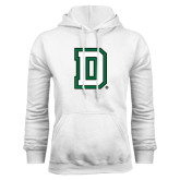 White Fleece Hood-Dartmouth D
