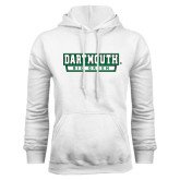 White Fleece Hood-Dartmouth Big Green