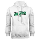 White Fleece Hood-Slanted Dartmouth Big Green