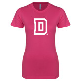 Ladies SoftStyle Junior Fitted Fuchsia Tee-Dartmouth D
