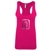 Next Level Ladies Raspberry Ideal Racerback Tank-Dartmouth D Foil