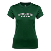 Ladies Syntrel Performance Dark Green Tee-Alumni