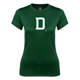 Ladies Syntrel Performance Dark Green Tee-Dartmouth D