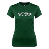 Ladies Syntrel Performance Dark Green Tee-Football