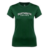 Ladies Syntrel Performance Dark Green Tee-Soccer