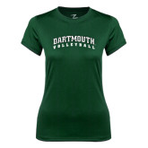 Ladies Syntrel Performance Dark Green Tee-Volleyball