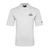 Under Armour White Performance Polo-Dartmouth Big Green