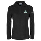 Columbia Ladies Half Zip Black Fleece Jacket-Dartmouth