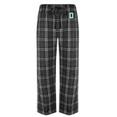 Black/Grey Flannel Pajama Pant-Dartmouth D