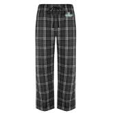 Black/Grey Flannel Pajama Pant-D Dartmouth Stacked