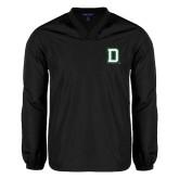 V Neck Black Raglan Windshirt-Dartmouth D