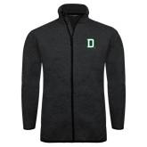 Black Heather Fleece Jacket-Dartmouth D