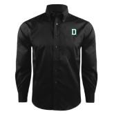 Red House Black Herringbone Non Iron Long Sleeve Shirt-Dartmouth D