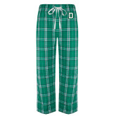 Green/White Flannel Pajama Pant-Dartmouth D
