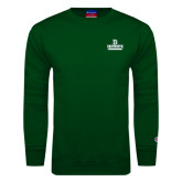 Dark Green Fleece Crew-D Dartmouth Stacked