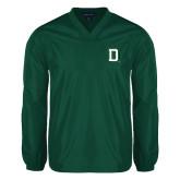 V Neck Dark Green Raglan Windshirt-Dartmouth D