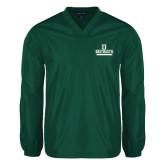 V Neck Dark Green Raglan Windshirt-D Dartmouth Stacked